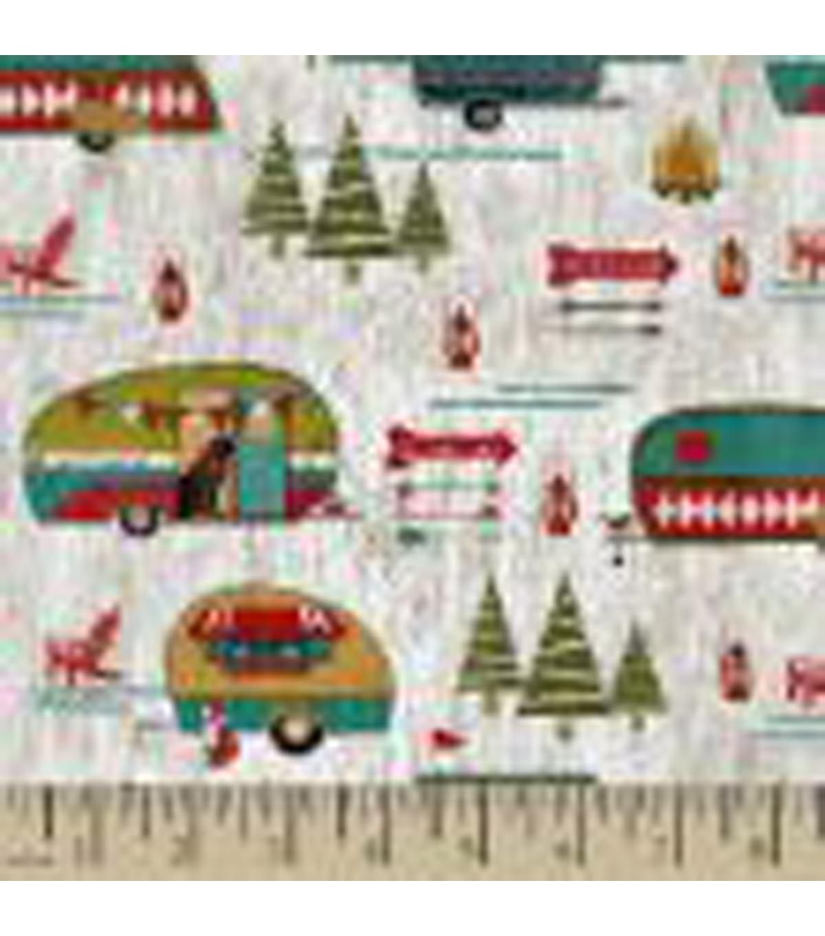 Legacy Studio Cotton Fabric-Happy Campers Lake House | camping ...