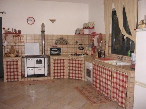 Cortinas para la cocina de cuadros rojos y blancos hogar - Cortinas para cocinas rusticas ...