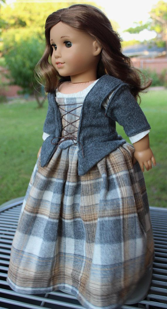 RESERVED LISTING 18″ Historical Doll Clothes Outlander / Colonial Style Outfit F… #historicaldollclothes
