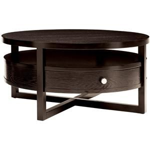 Merveilleux Tiber Round Coffee Table With Drawer And Shelf By Sitcom    BigFurnitureWebsite   Cocktail Or Coffee Table