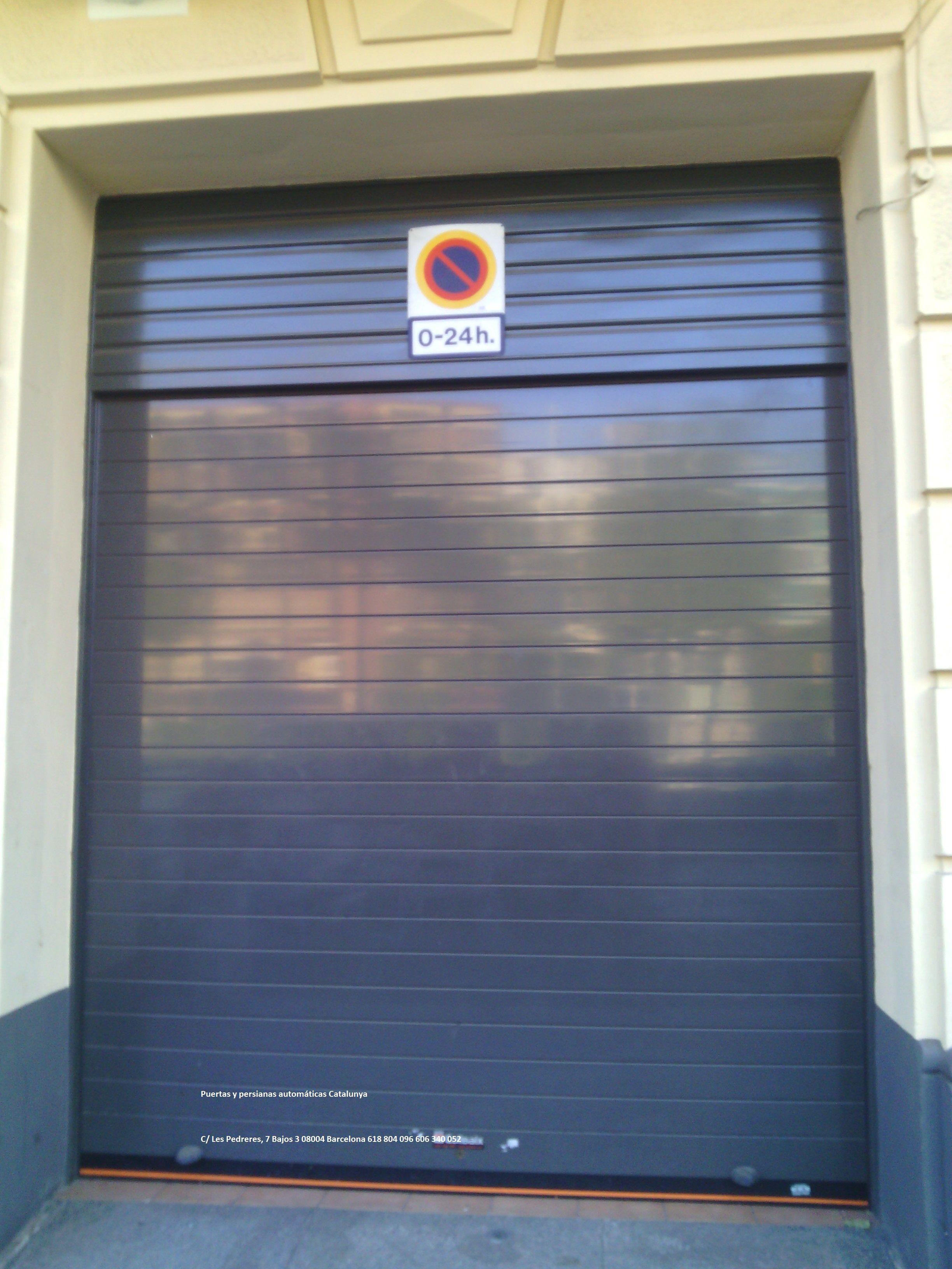 Puerta Enrollable De Garaje De Alumino Puertas Automaticas Puertas De Garaje Puertas