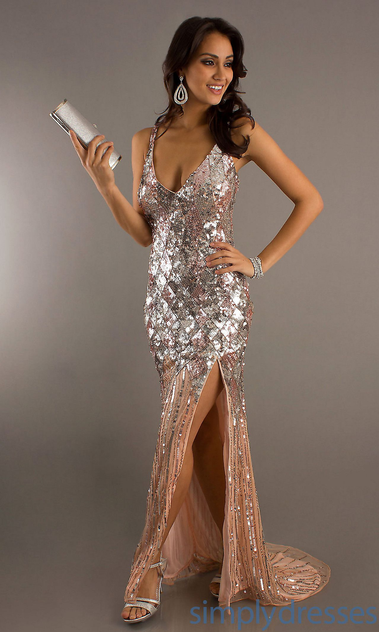 Long sequin primavera formal prom dress simply dresses formal