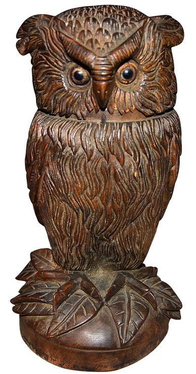Black forest carved wood owl how we failed to quit the