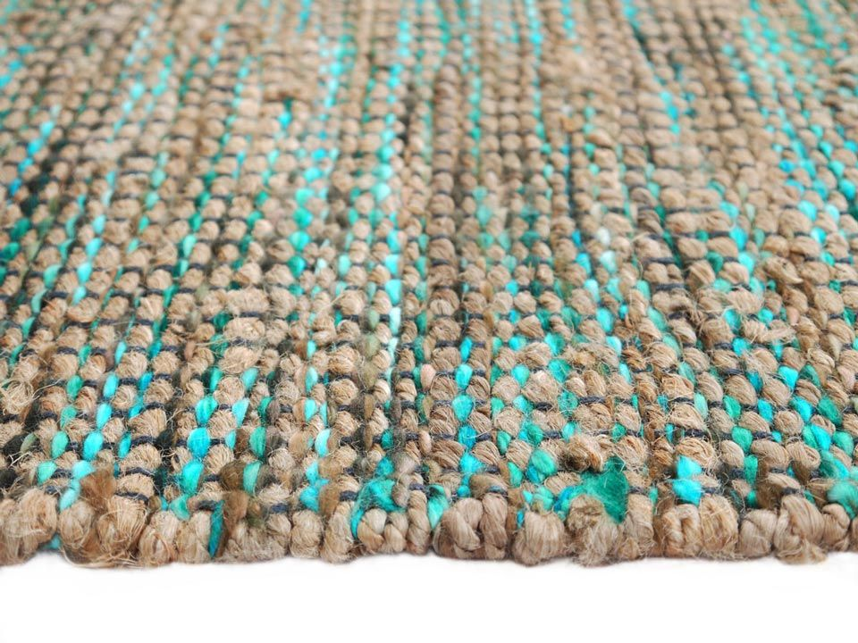 Flat Weave Rugs Combi Turquoise Mix Rug