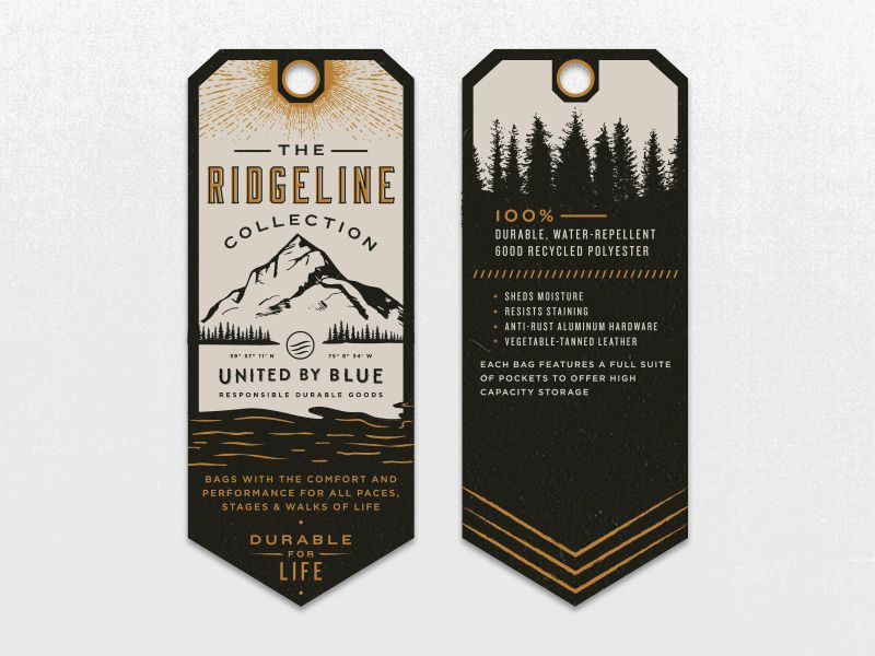 Ridgeline Hang Tag | Popular Dribbble Shots | Clothing ...
