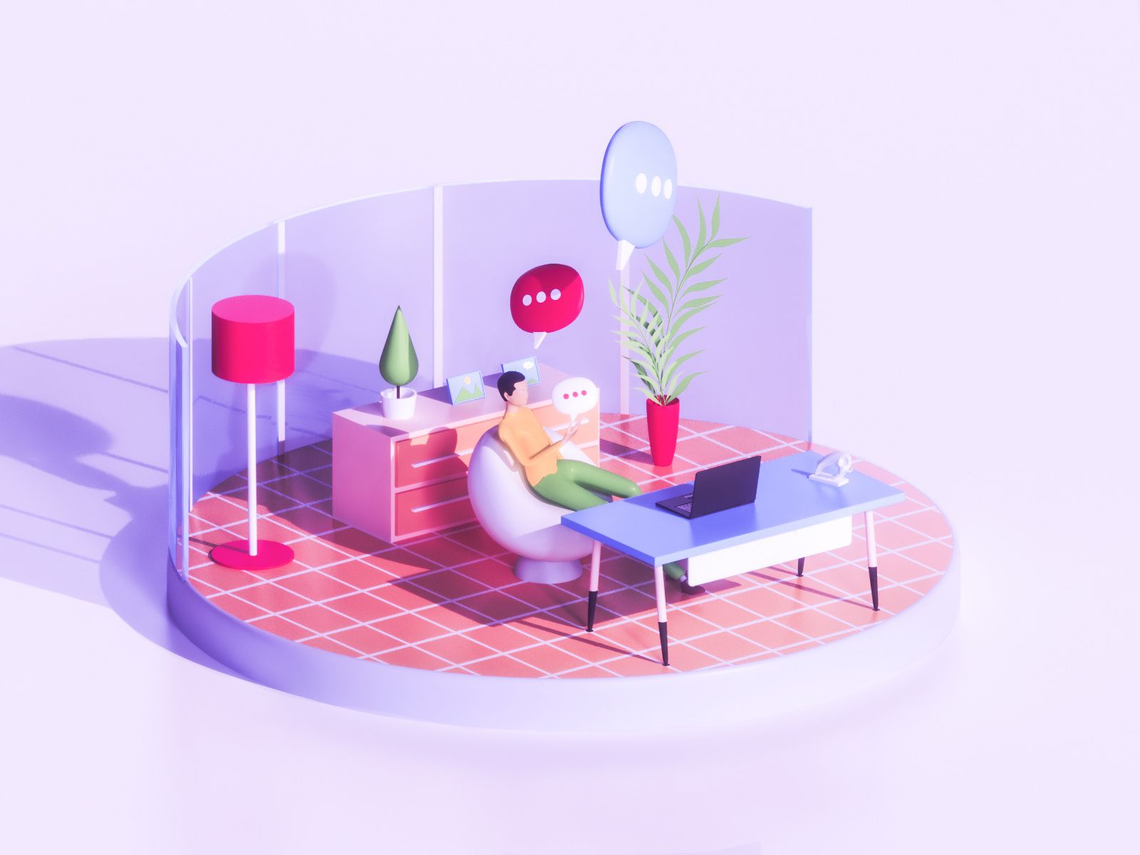 Chat everywhere - Work | Concept architecture, Show, tell