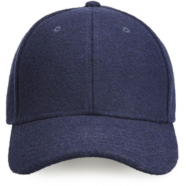 2950f384f06b6e Whistles Wool Blend Baseball Cap ($72) ❤ liked on Polyvore featuring  accessories, hats, caps, headwear, navy, navy blue ball cap, navy cap, navy  baseball ...
