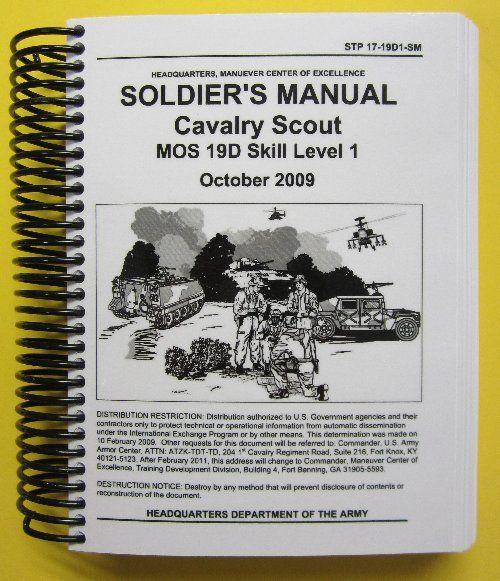 Stp DSm SoldierS Manual  Cav Scout  D Sl  Scouts