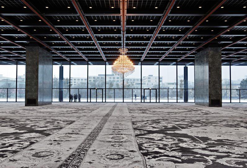 Rudolf Stingel, Installation shot, David von Becker Verein der Freunde der Nationalgalerie, http://www.thisistomorrow.info/viewArticle.aspx?artId=290=Rudolf%20Stingel:%20LIVE