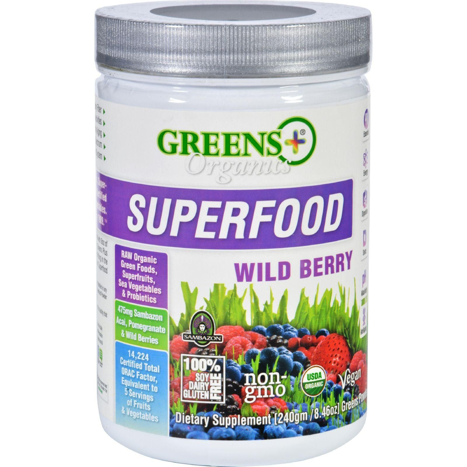 Best Greens Plus Wild Berry Powder Organic 8 5 Oz Case Of 6 Organic Superfoods Superfood 400 x 300