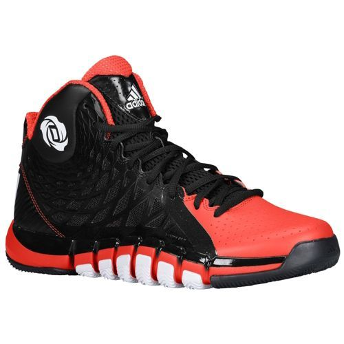 new styles 39695 a989c adidas Rose 773 - Mens - Basketball - Shoes - BlackWhiteLight Scarlet