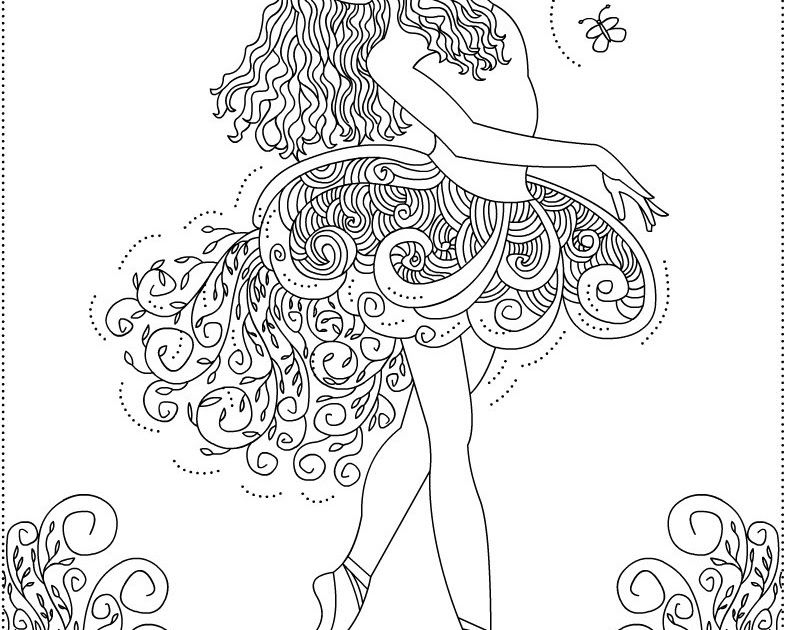 Ballerina Primavera Ballet coloring pages one day imma make