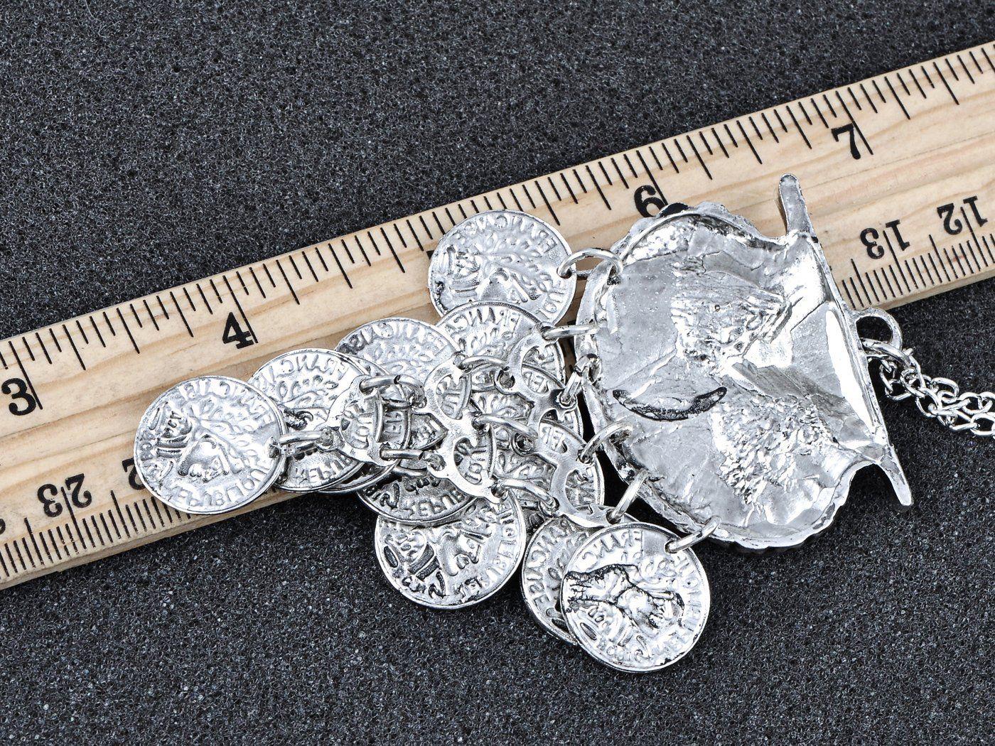 Baumeln Silbermünze Eule Vogel Zigeuner Anhänger Halskette