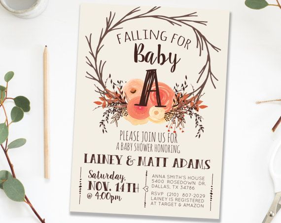 Fall autumn rustic baby shower invitation invite girl fall leaves fall autumn rustic baby shower invitation invite girl fall leaves gender neutral baby shower invitation invite for girl printable invite filmwisefo Choice Image