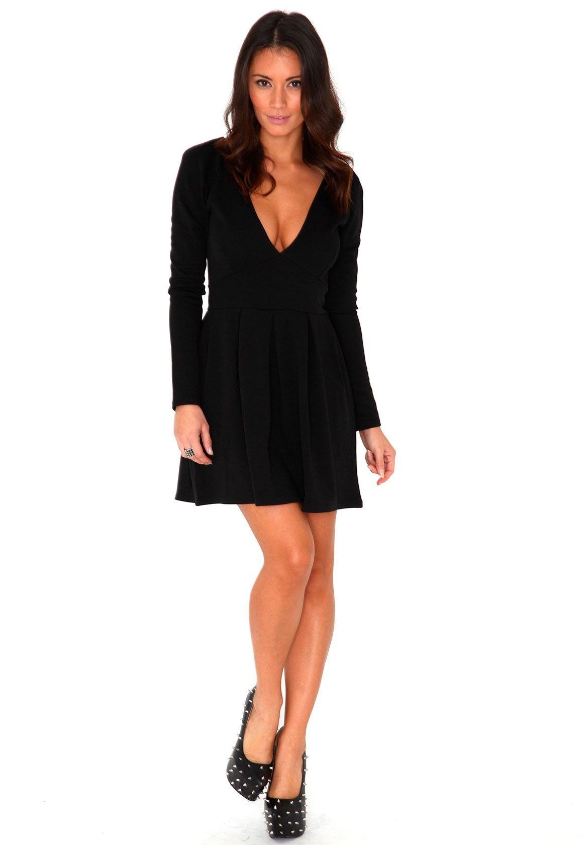Jadin Fitted Long Sleeve Dress In Black Long Sleeve Fitted Dress Women Dress Online Dresses [ 1680 x 1160 Pixel ]