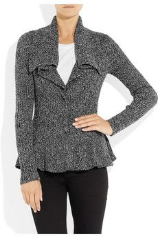 ALEXANDER MCQUEEN  Ribbed-knit wool cardigan  $1,355
