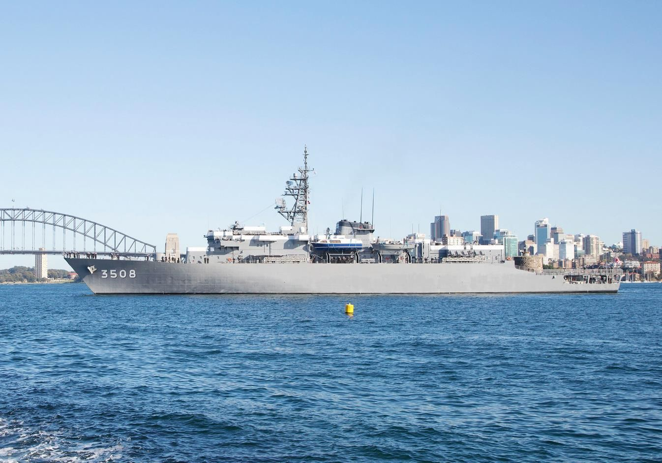 Three Japanese Maritime Self-Defence Force Ships, JDS Kashima, JDS Setoyuki and JDS Asagiri have arrived at Garden Island, Sydney, for a three-day port visit. The ships are part of the JMSDF Training Squadron. Since 1956, the Squadron has been conducting annual overseas training cruises to develop the knowledge and skills of Junior Officers, who have completed the General Officer Midshipman's Course at the JMSDF candidate school.