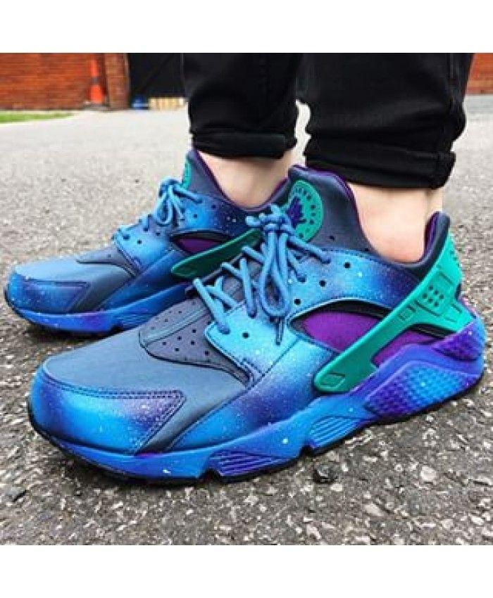 check out de972 4a977 Nike Air Huarache Mens Galaxy Blue Green NIKE187