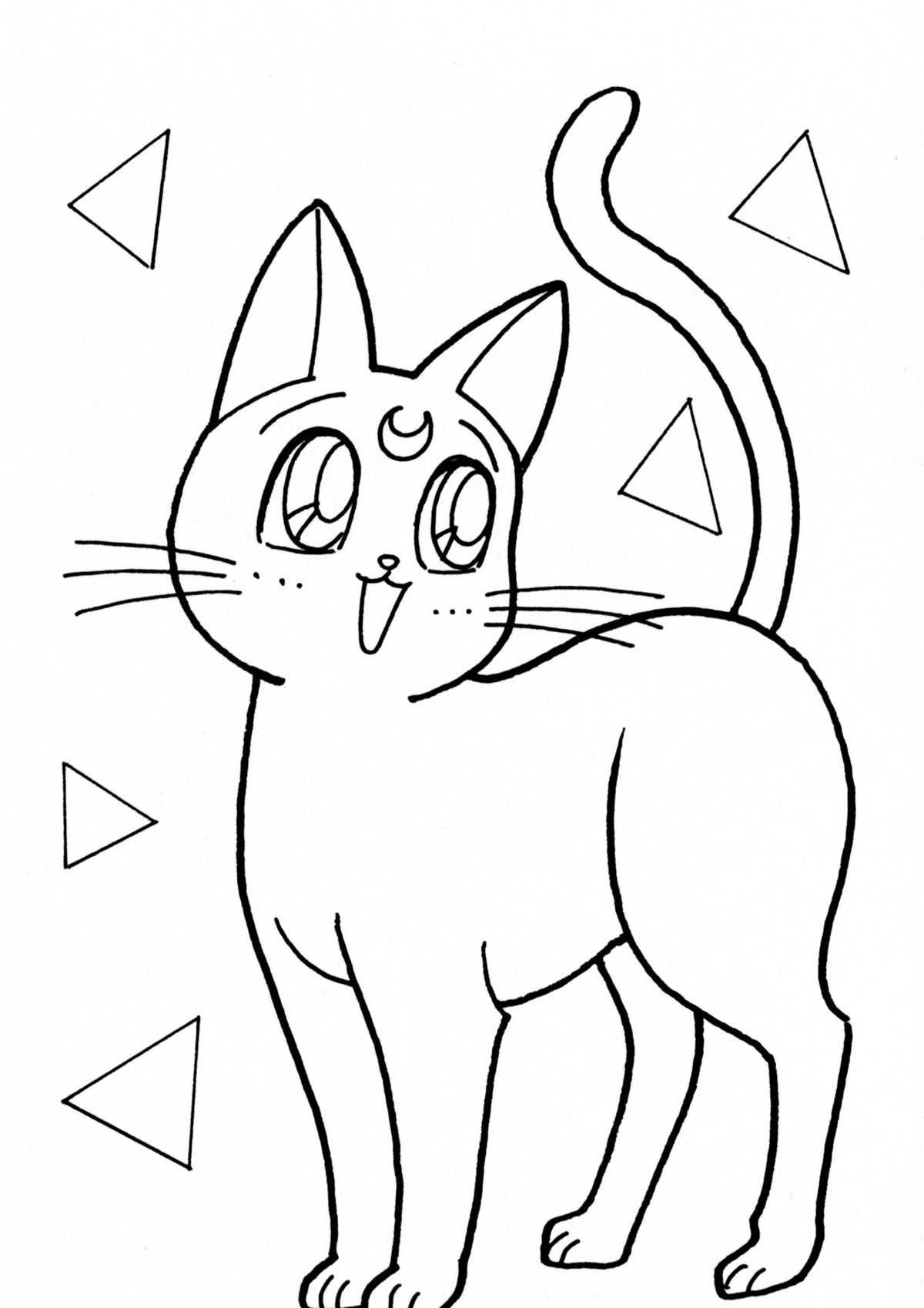 cats009.jpg (1200×1699) | Manualidades | Pinterest | Dibujos fáciles ...