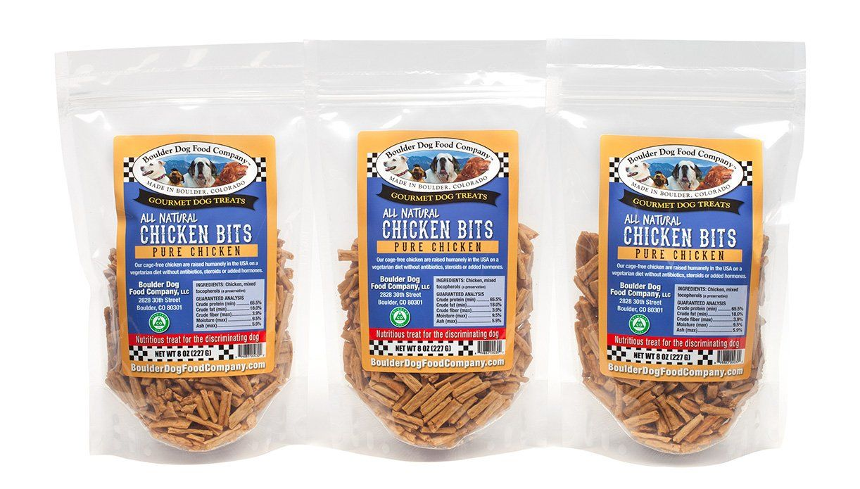 Chicken bits are a high protein treat made from human