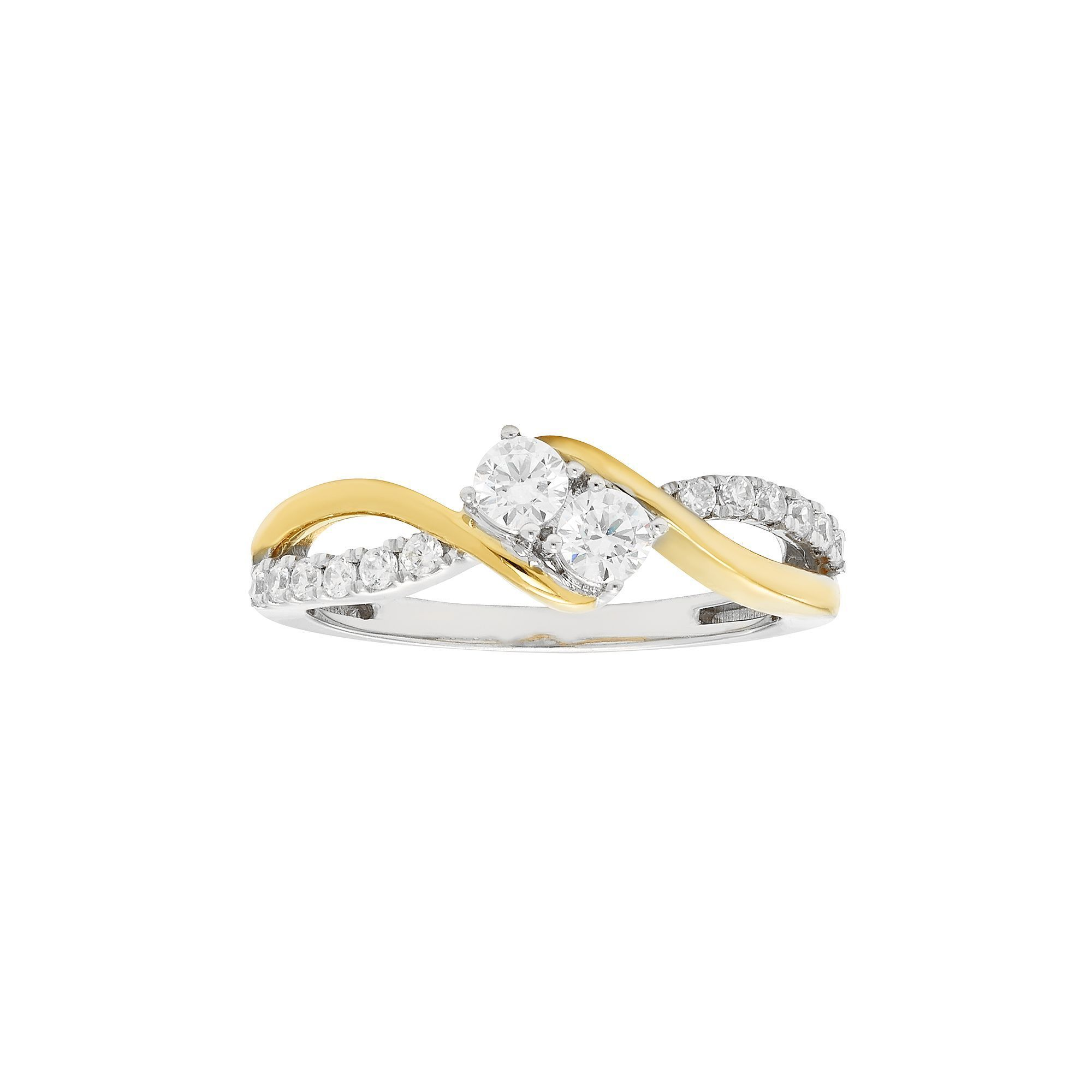 engagement madrid stone shop two gold white rings