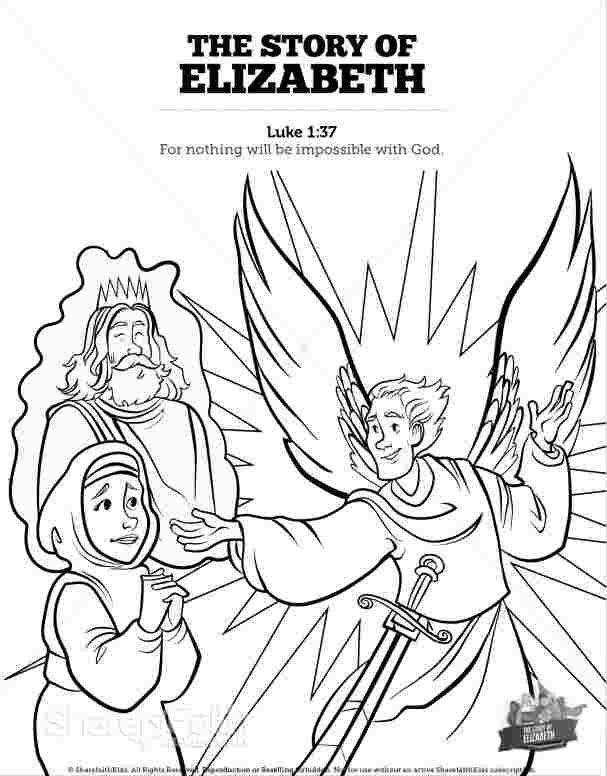 Coloring Festival Zechariah Elizabeth Coloring Pages More Than