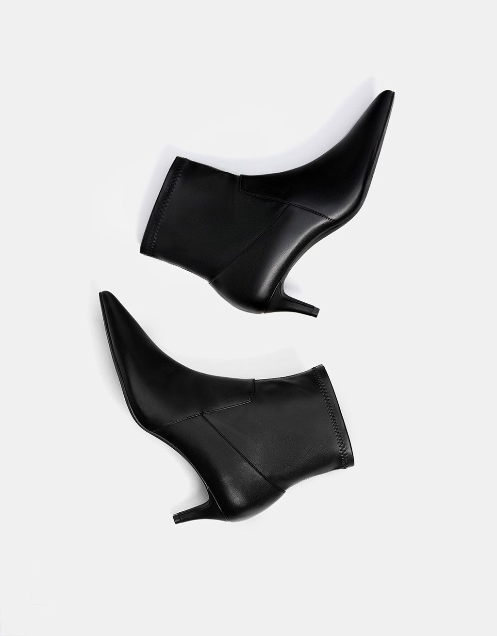Kitten Heel Ankle Boots With Pointed Toes Discover This And Many More Items In Bershka With New Products Every Week Boots Kitten Heel Ankle Boots Heels