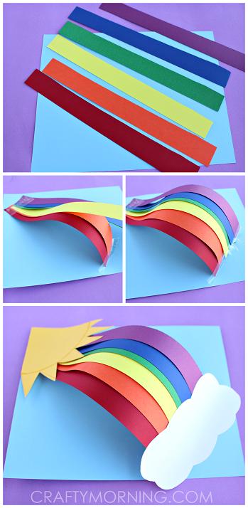 3d Rainbow Paper Craft For Kids Denenecek Projeler Crafts For