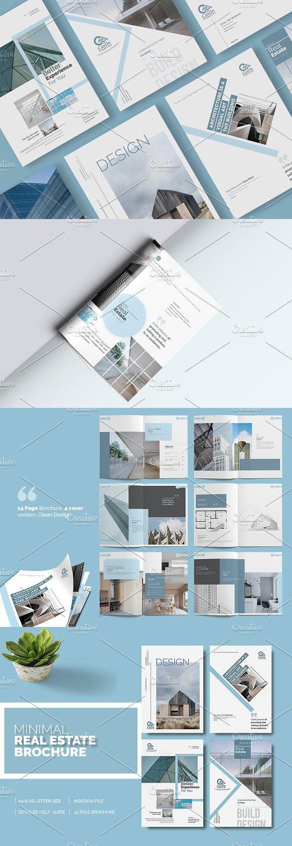 Minimal Real Estate Brochure | Real estate brochures, Brochure, Coffee table book design