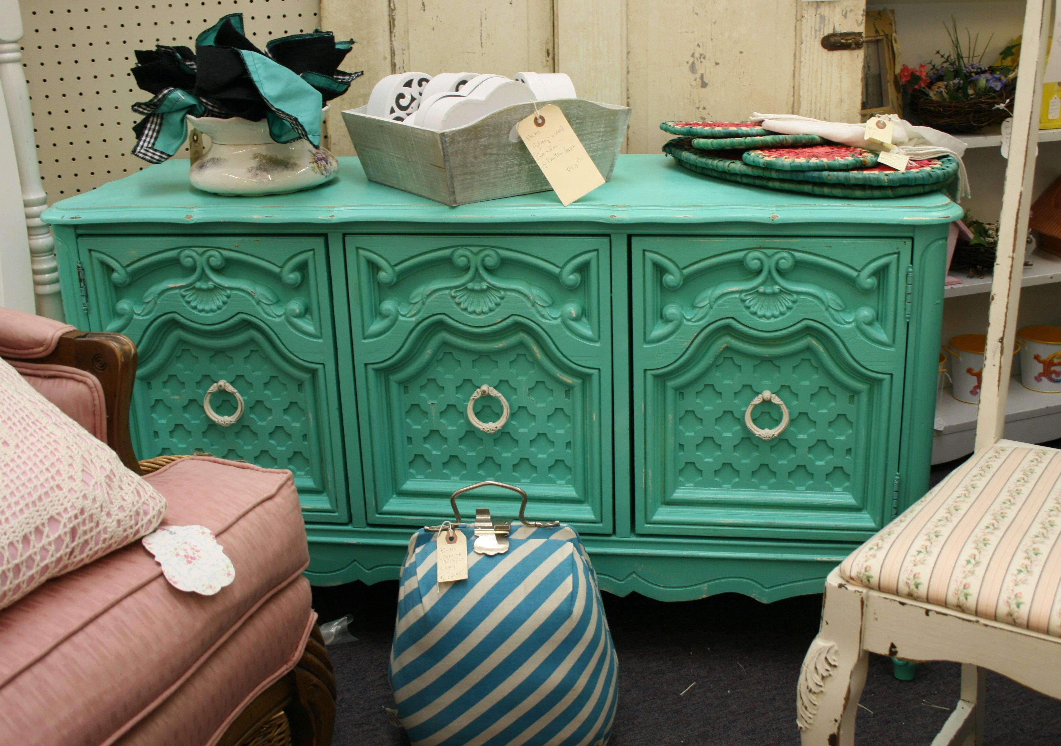 turquoise cabinet #woodstockantiques