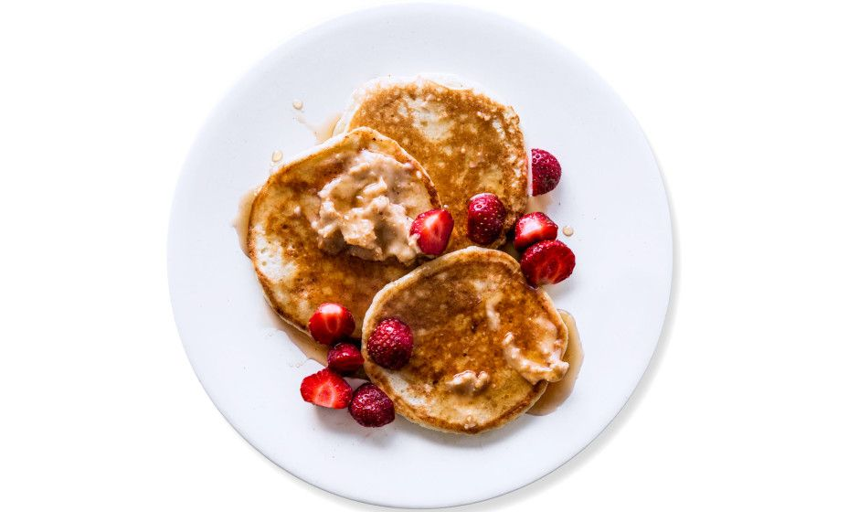 Ricotta Pancakes with Honeycomb-Candy Butter Recipe
