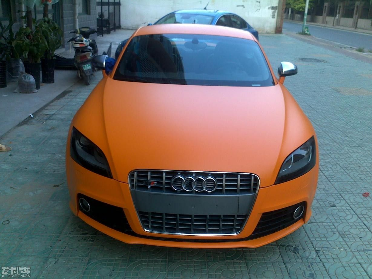 This is my kind of Creamsicle, a matte orange-wrapped TT S. Posted by mk_ca on VWvortex.