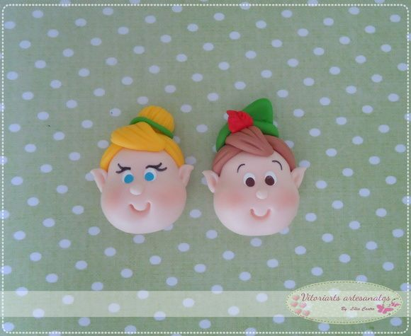 Aplique Peter Pan e Tinker Bel