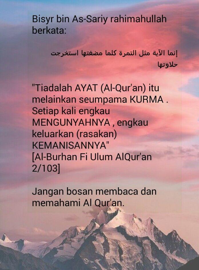 Hikmah..ayat al quran bagai kurma..dikunyah baharulah terasa ...