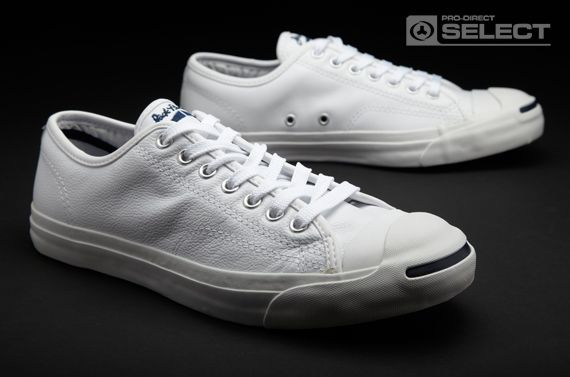 5bfe67d47b9 Converse Trainers - Jack Purcell Leather Ox - Mens Trainers - Mens Footwear  - White - Navy
