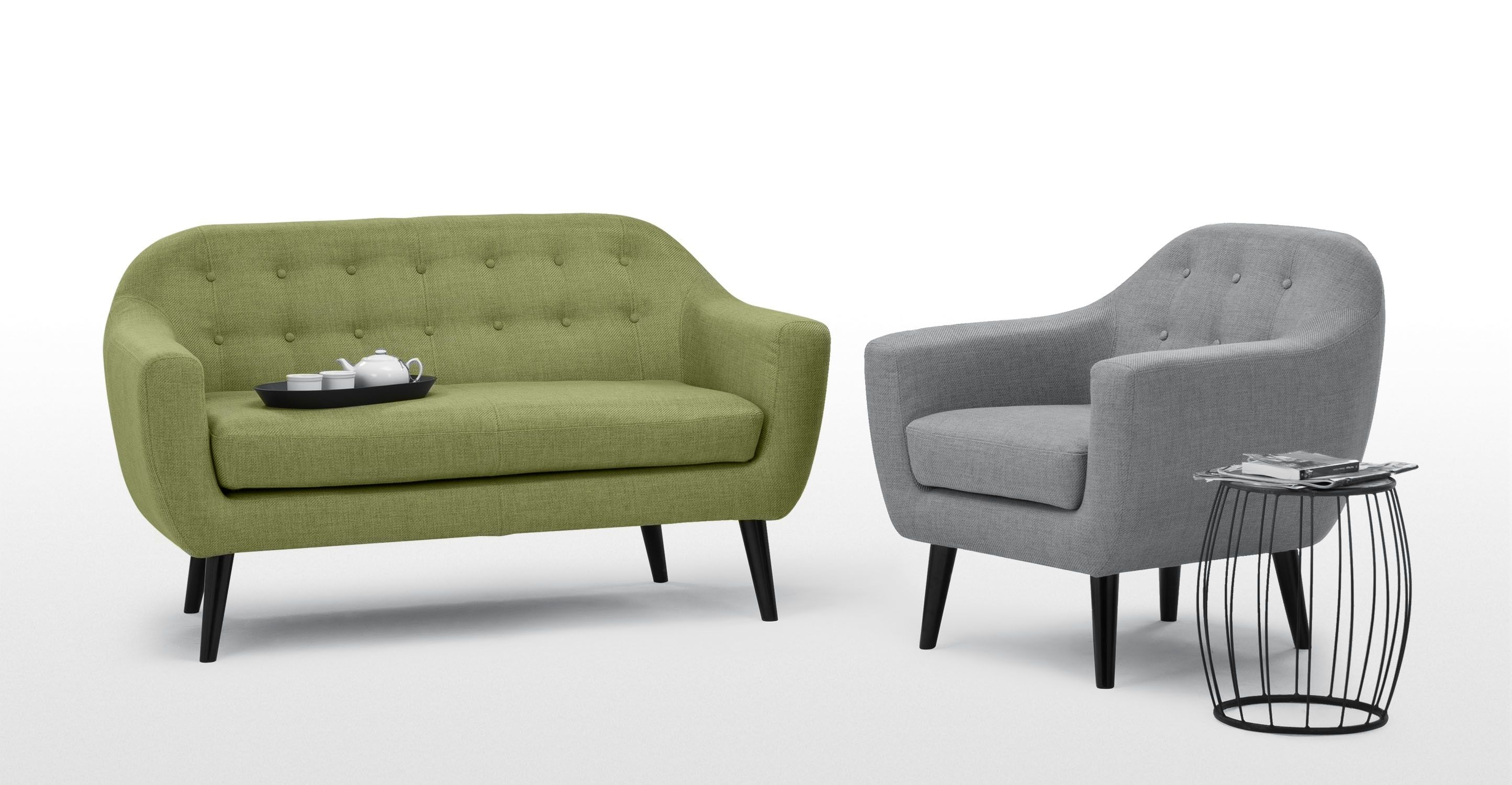 Ritchie 2 Seater Sofa Lime Green New Clinic 2 Seater Sofa Gray