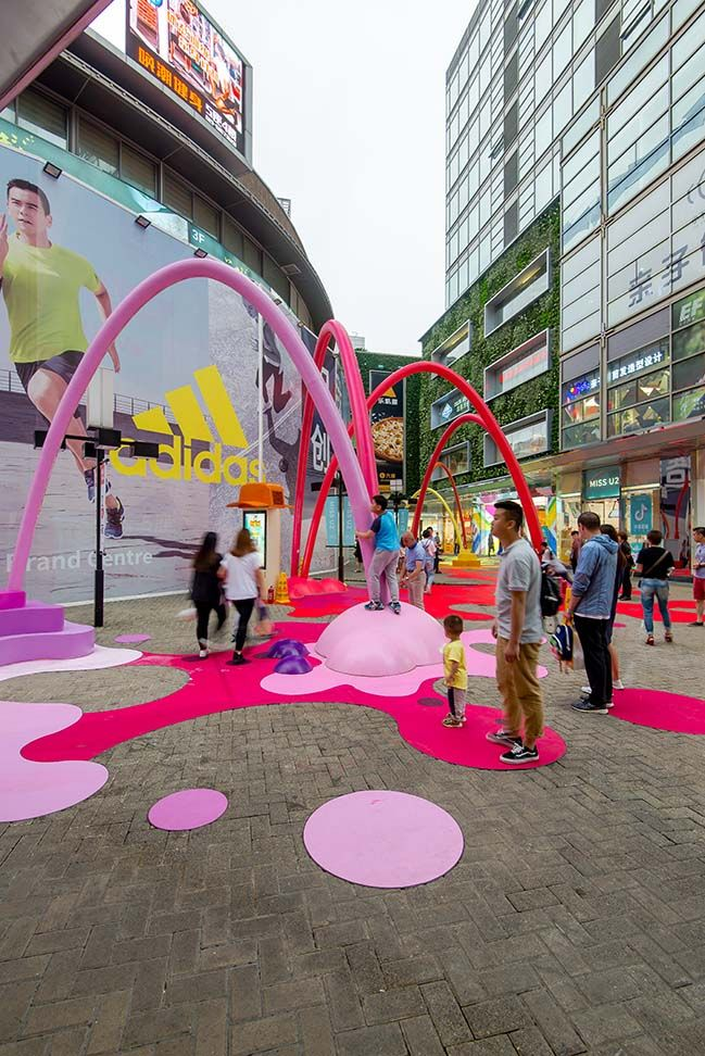 Paint Drop In Shanghai By 100architects Paint Drop Urban Playground Installation Design