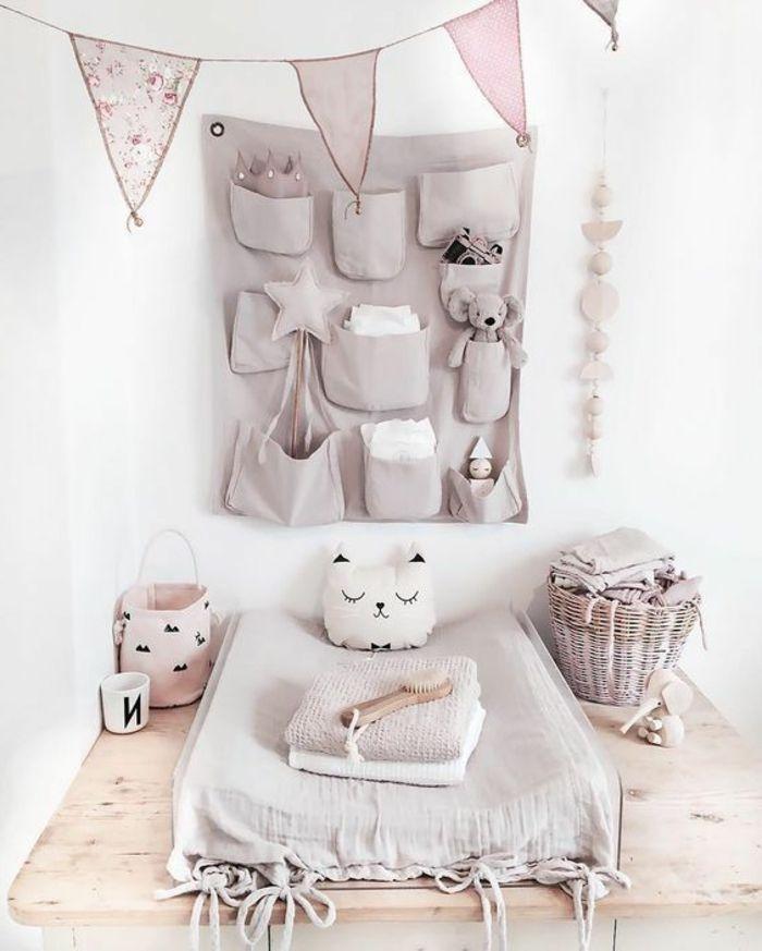 Kinderzimmer deko mädchen  babyzimmer deko ideen ecke zum windeln im babyzimmer mädchen ideen ...