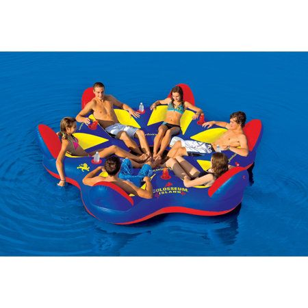 Gander Mountain Overtons Colosseum Island 6 Person Gifts Recreation Trampolines Water