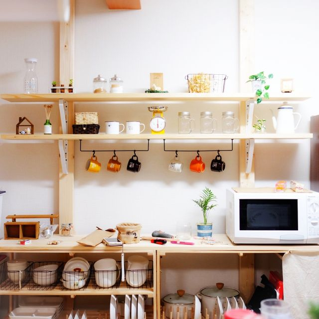 魅せる収納術はオシャレに隠すことがポイント 真似したいキッチン