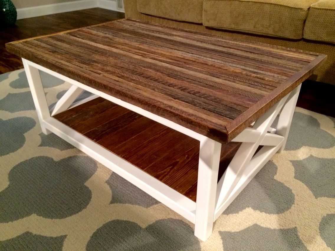 - Handmade Coffee Table By My One And Only. Tobacco Stick Top