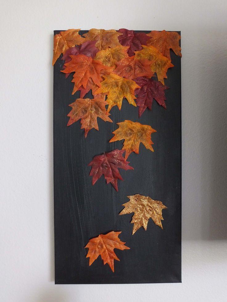 DIY: Herbstblatt Leinwand #dekoherbst