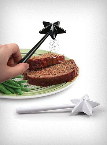 I really want these!!!!  Magic Wand salt and pepper shakers $15