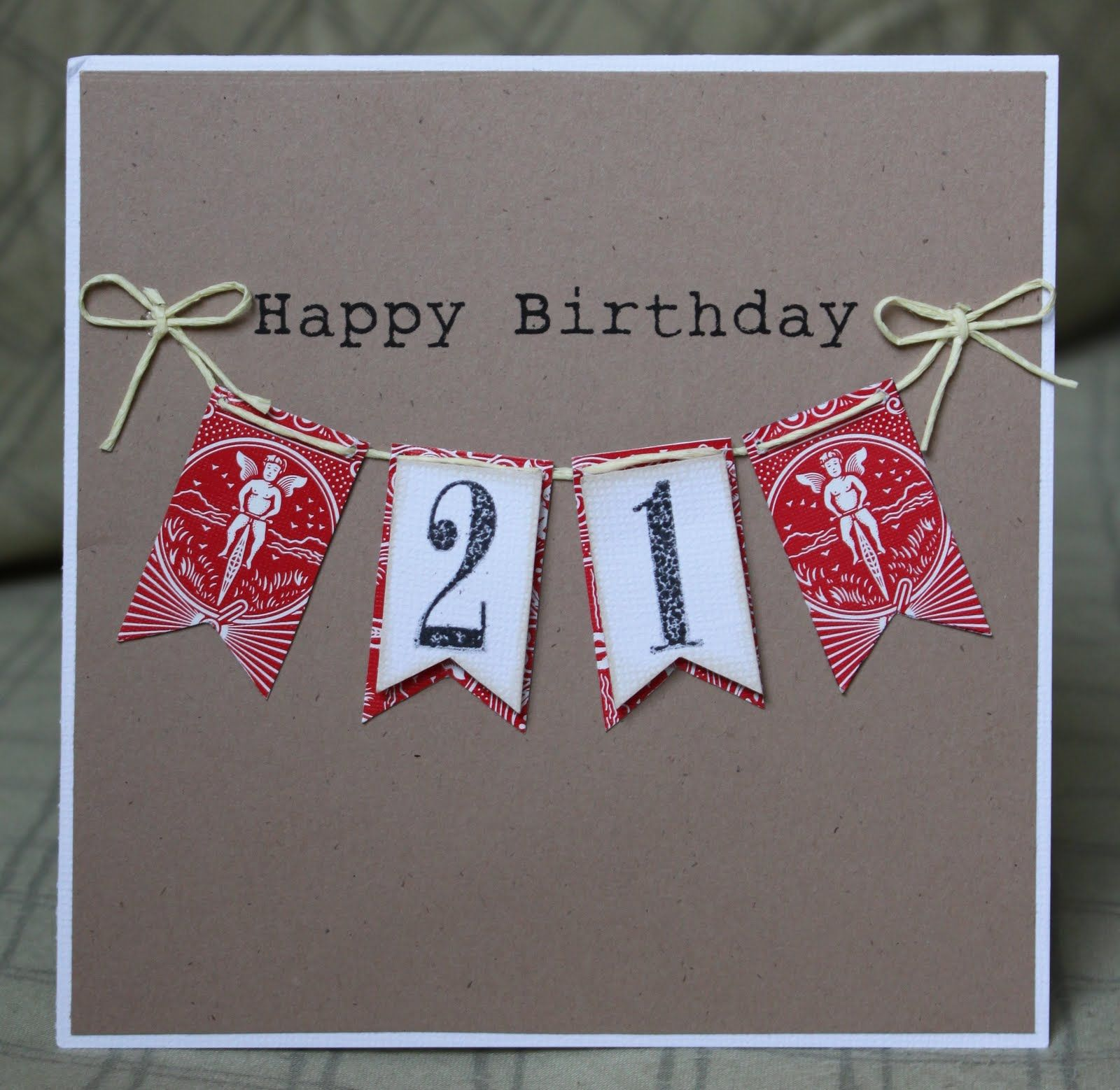 Happy 21st Birthday Candle Card, Can be Personalised