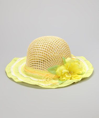 Take a look at this Yellow Tea Party Bucket Hat by Cinderella Couture on #zulily today!