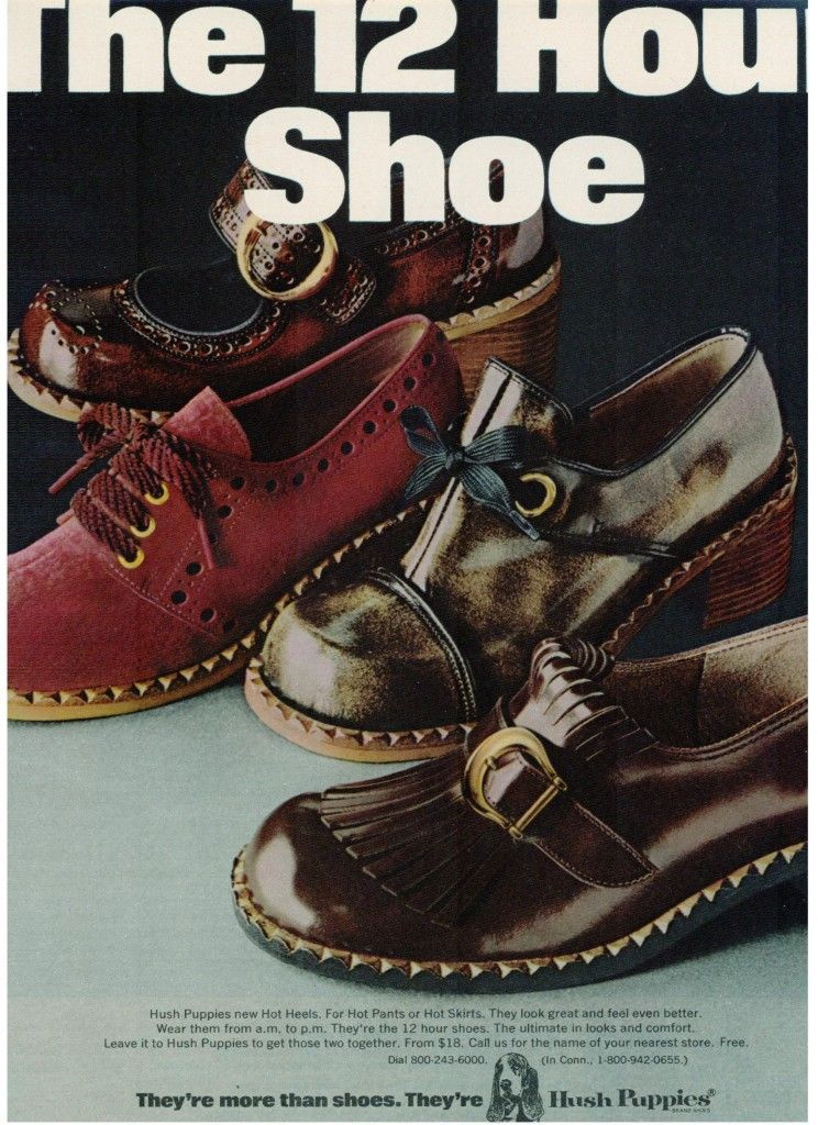 Hush Puppies Hot Heels Shoe Ad Vintage 1971 Tights And Heels Shoes Vintage Boots