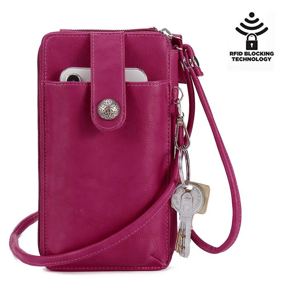 Brenice Women RFID Card Bag Solid Crossbody Bag - Banggood Mobile ... b238219323656
