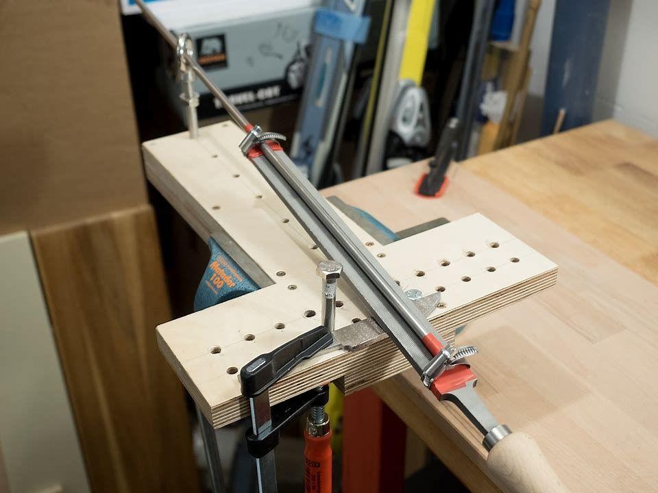 Image result for knife bevel filing jigs knife making