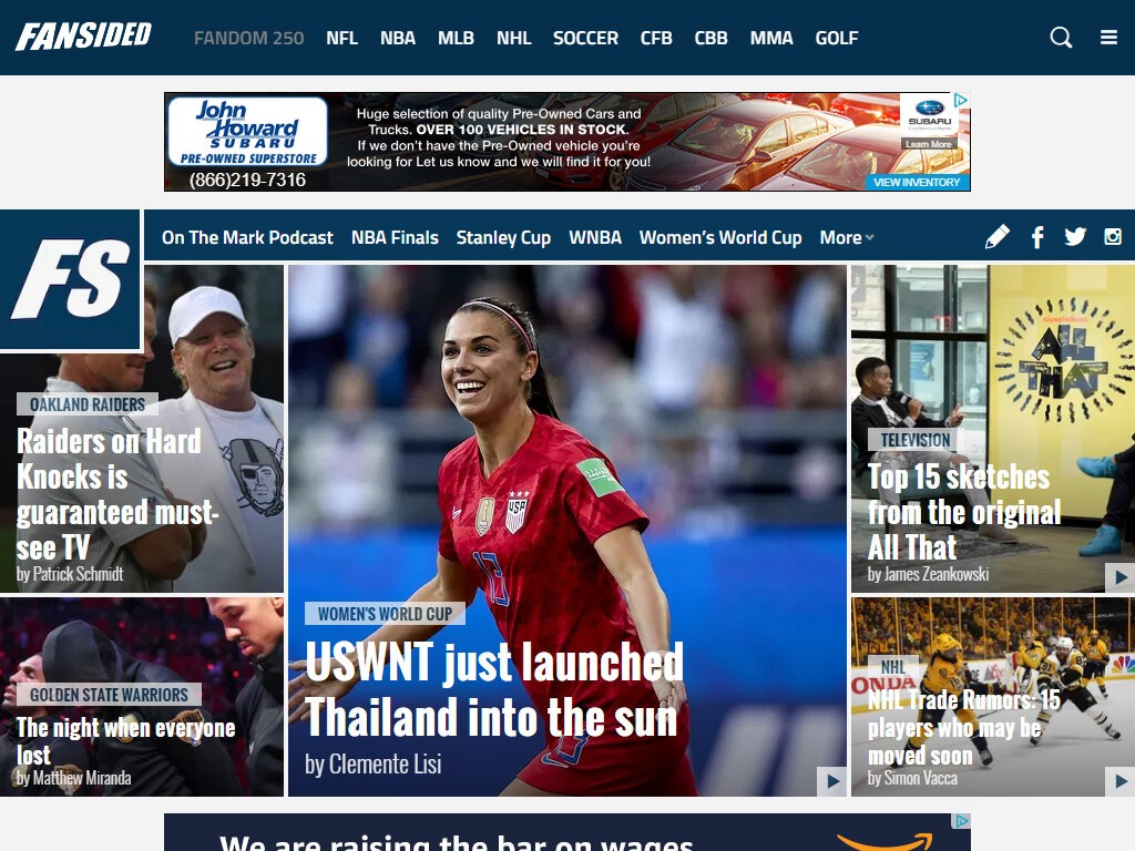 Ideas Sports Best Websites News Sports Women S World Cup Huge Truck