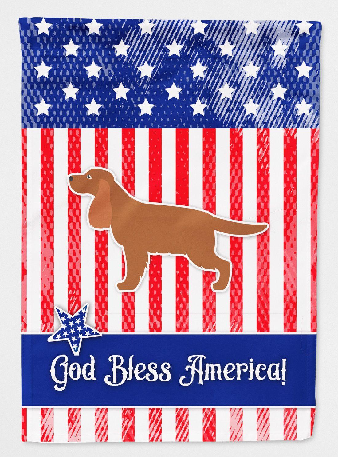 Patriotic Usa English Cocker Spaniel 2 Sided Garden Flag Dog